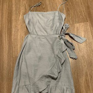 Angel Biba Grey Wrap Dress